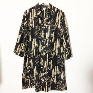 VTG Harve Bernard Silk Shift Dress Asian Design 14